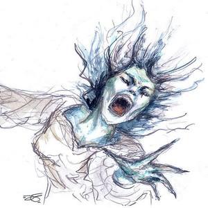 """Illustration d'une Banshee par """"littlesmartwitch"""""""